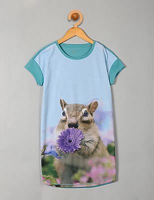 GAP Girls Blue Photo Real Animal Nightgown
