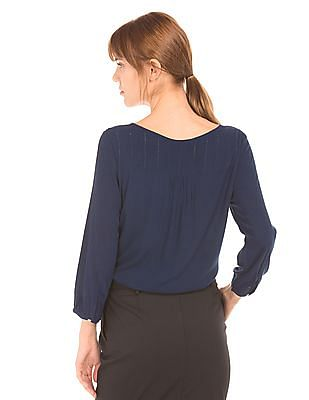 Arrow Woman Tucked Front Woven Top