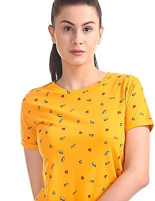 SUGR Printed Short Sleeve T-Shirt
