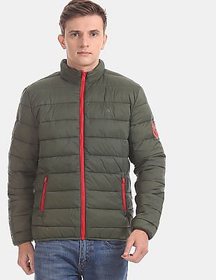 Aeropostale Green Detachable Hood Quilted Jacket