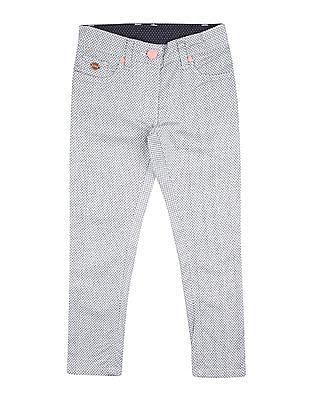 U.S. Polo Assn. Kids Girls Printed Stretch Trousers