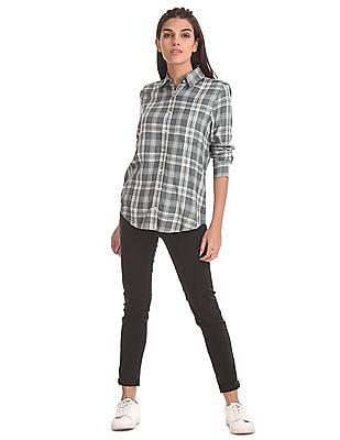 Aeropostale Embroidered Yoke Check Shirt