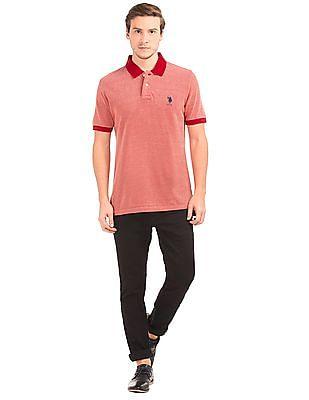 U.S. Polo Assn. Slim Fit Pique Polo Shirt