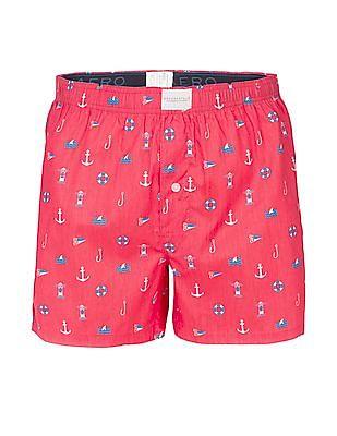 Aeropostale Nautical Print Boxer Shorts
