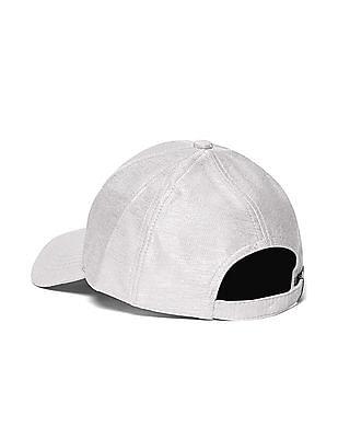SUGR Silver Metallic Panelled Cap