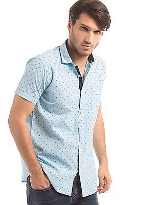Ruggers Slim Fit Printed Shirt