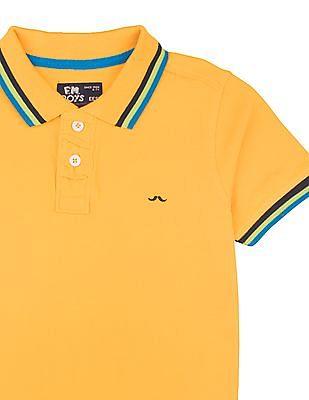 FM Boys Boys Tipped Slim Fit Polo Shirt