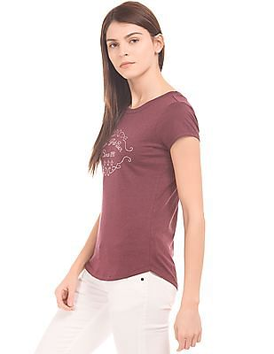 U.S. Polo Assn. Women Embellished Regular Fit T-Shirt