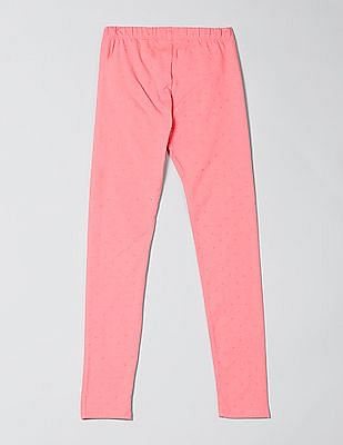 GAP Girls Pink Print Leggings in Stretch Jersey