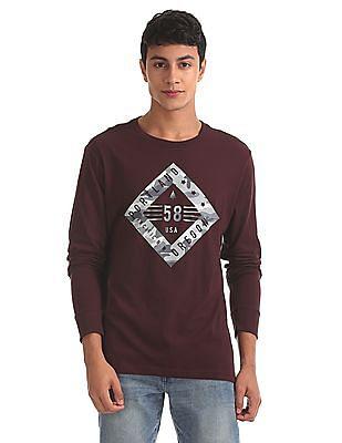 Aeropostale Regular Fit Printed Front T-Shirt