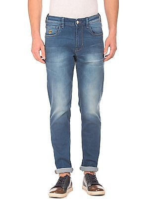 U.S. Polo Assn. Denim Co. Slim Tapered Stone Washed Jeans