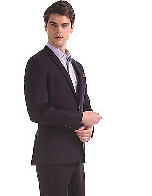 Arrow Purple Body Tailored Regular Fit Patterned Suit