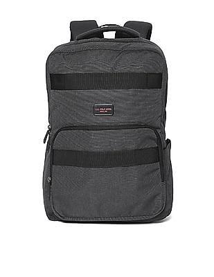 U.S. Polo Assn. Grey Heathered Laptop Backpack
