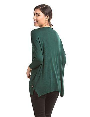 U.S. Polo Assn. Women Drop Shoulder Round Neck Sweater