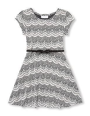 The Children's Place Girls Knit Jacquard Dress