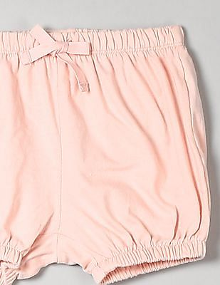 GAP Toddler Girl Pink Solid Bubble Shorts