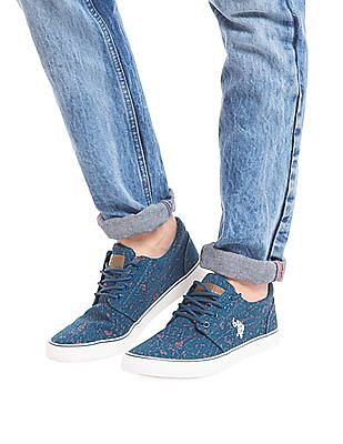 U.S. Polo Assn. Contrast Stitch Canvas Sneakers