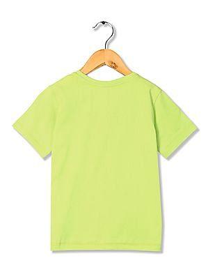 FM Boys Boys Crew Neck Printed T-Shirt