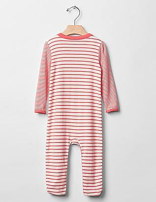 GAP Baby Red Stripe Footed One-Piece