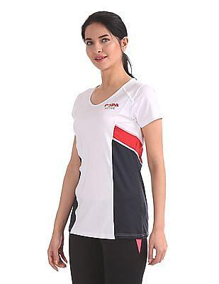U.S. Polo Assn. Women Round Neck Active T-Shirt