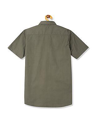 U.S. Polo Assn. Kids Boys Short Sleeve Twill Shirt