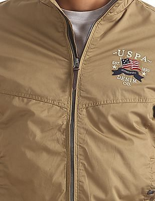 U.S. Polo Assn. Denim Co. Panelled Bomber Jacket