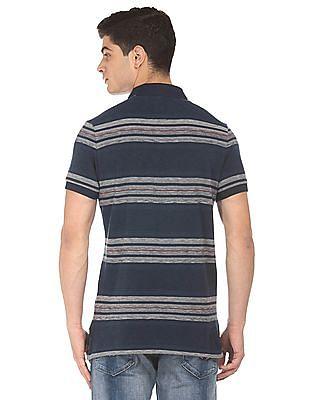 U.S. Polo Assn. Denim Co. Striped Pique Polo Shirt