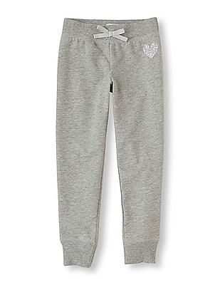 The Children's Place Girls Printed Fleece Pants