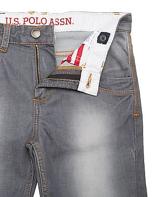 U.S. Polo Assn. Kids Boys Mid Rise Slim Fit Jeans