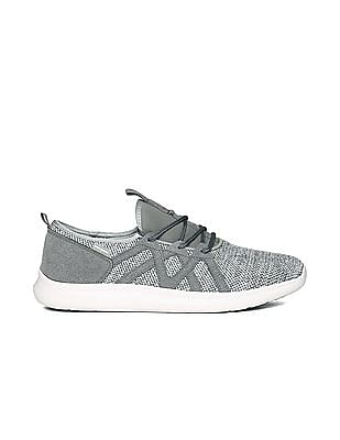 Flying Machine Contrast Sole Mesh Sneakers