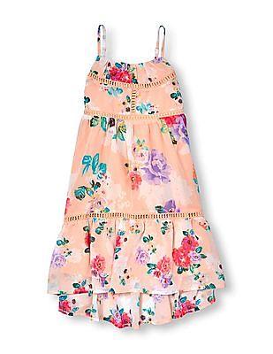 The Children's Place Girls Floral Print High-Lo Hem Dress