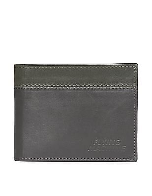 Flying Machine Colour Block Leather Wallet