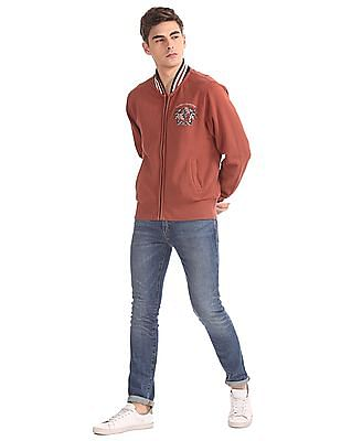 Izod Zip-Up Full Sleeve Sweatshirt