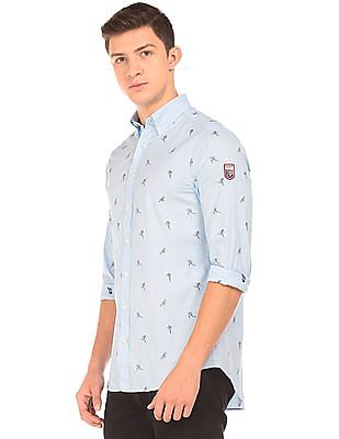 Gant Patterned Weave Button Down Shirt