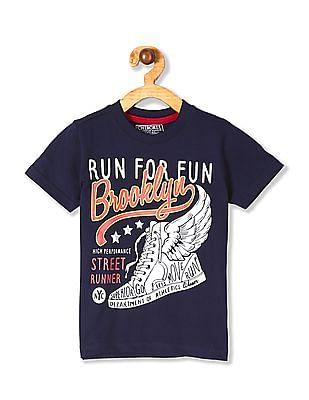 Cherokee Boys Crew Neck Sneaker Print T-Shirt