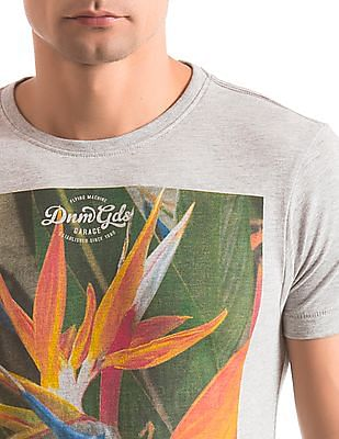 Flying Machine Regular Fit Graphic Print T-Shirt