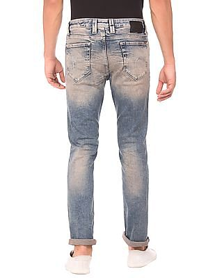 Flying Machine Bleached Skinny Fit Jeans