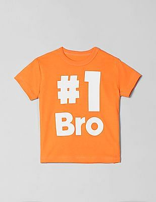 GAP Baby Orange Short Sleeve Graphic Tee