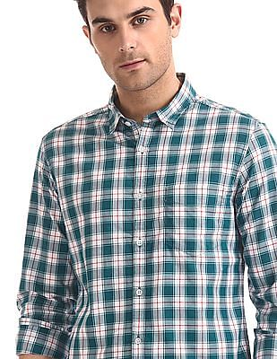 Flying Machine Check Poplin Shirt