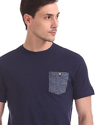 Cherokee Striped Chest Pocket T-Shirt