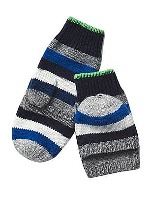 GAP Boys Crazy Stripe Convertible Mittens