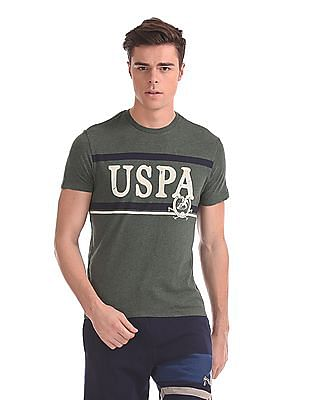 U.S. Polo Assn. Denim Co. Contrast Print Crew Neck T-Shirt