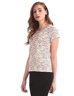 Cherokee Multi Colour Round Neck Printed T-Shirt