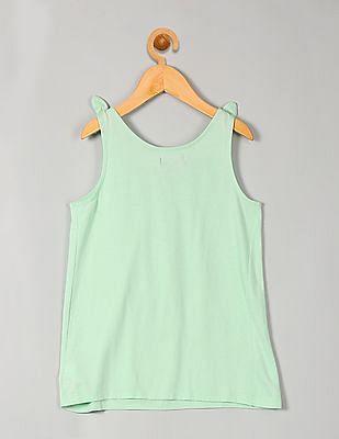 GAP Girls Green Bow Shirred Tank