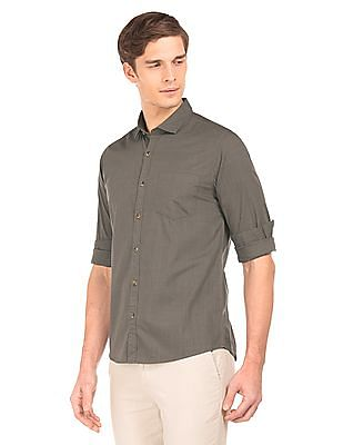Roots by Ruggers Slubbed Contemporary Fit Shirt