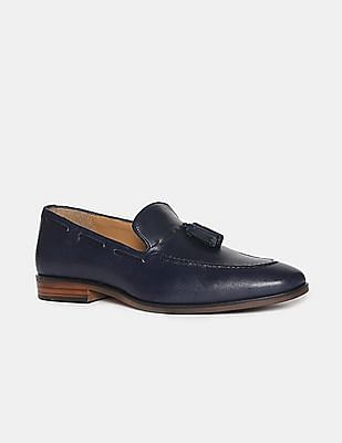 U.S. Polo Assn. Blue Tasselled Leather Slip On Shoes