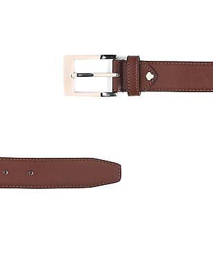 Excalibur Metallic Buckle Leather Belt