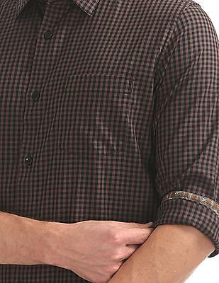 Arvind Slim Fit Check Shirt