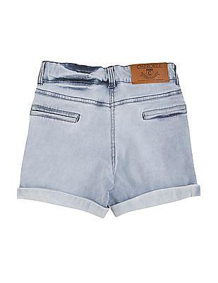 Cherokee Girls Washed Regular Fit Denim Shorts