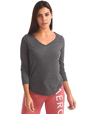 Aeropostale Mock Lace-Up Active Top